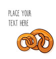 Template with two pretzels vector image