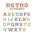 Colorful vintage alphabet on white background vector image vector image