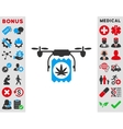 Drugs Drone Delivery Icon vector image