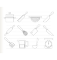 cooking equipment vector image vector image