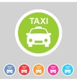 taxi car icon flat web sign symbol logo label vector image vector image