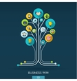Growth tree concept for business communication vector image