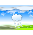 a spring rain vector image