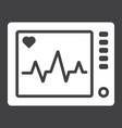 ecg machine glyph icon medicine vector image