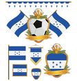 Honduras flags vector image