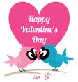 Love birds invitation card for wedding or Valentin vector image