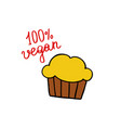 muffin doodle icon vector image