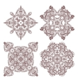 Set aztec ornaments vector image