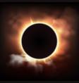 total sun eclipse vector image