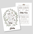 WEDDING INVITATION TEMPLATE WITH MAP vector image