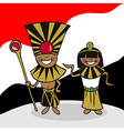 Welcome to Egypt people vector image