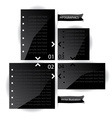 Black glossy panels presentations with numbers vector image vector image