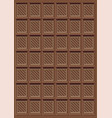 brown delicious chocolate bar pattern vector image