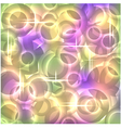 Abstract modern background with fluorescent circle vector image