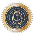 Grand seal of rhode island vector image