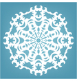 Christmas decorative lace ornament vector image