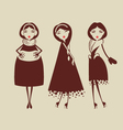 fashion woman collection vector image