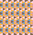 abstract retro geometric pattern vector image