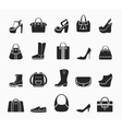 Women bags and shoes vector image