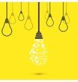 modern light bulb background vector image