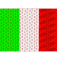 brick wall italy vector image
