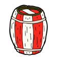 comic cartoon painted barrel vector image