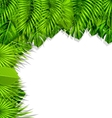 Summer Nature Background with Green vector image
