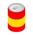 Can of soda isometric 3d icon vector image