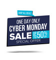 cyber monday sale banner special offer vector image