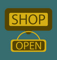 flat icon label store vector image