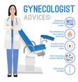 gynecologist image vector image