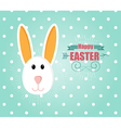 Happy Easter Card with Easter Bunny Rabbit vector image