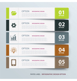 Infographic label tab template vector image