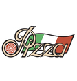 pizza label vector image
