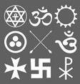 set of esoteric symbols vector image