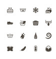 washing - flat icons vector image