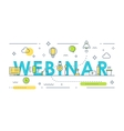 Webinar Sign Online Event Line Art vector image