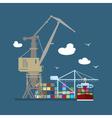 Cargo Sea Port vector image