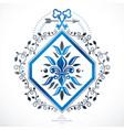 emblem vintage heraldic design vector image