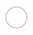 pink chain in shape of circle vector image