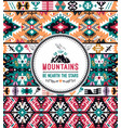 fancy abstract geometric pattern in tribal styl vector image