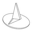 cartoon image of push pin icon pin symbol vector image