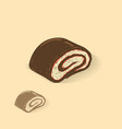 chocolate jelly roll vector image