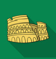 colosseum in italy icon in flat style isolated on vector image
