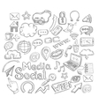 Doodle Social Icons vector image