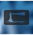lighthouse icon on blurred background vector image