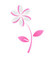 pink paper cutout flower vector image