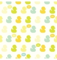 Seamless pattern with kiddish baby ducks vector image