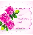 Valentines day card with beautiful flowers vector image