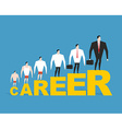 Evolution of office manager in his career Career vector image
